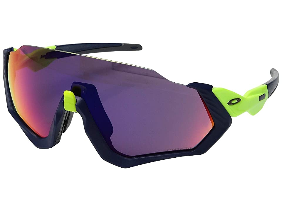Oakley Flight Jacket (Retina Burn/Matte Navy w/ Prizm Road) Sport Sunglasses