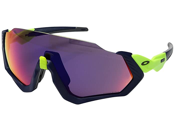 Oakley Flight Jacket (Retina Burn/Matte Navy w/ Prizm Road) Sport Sunglasses
