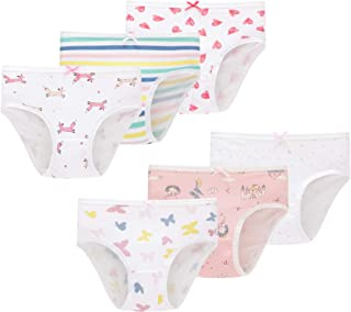 Little Girls Mermaid Underwear Kids Breathable Comfort Briefs Children Panties(Pack of 6)