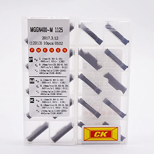 popular ZIMING-1 10pcs MGGN400-M 1125 CNC Carbide Inserts tools Suitable online sale for online machining Steel parts/stainless steel/cast iron sale