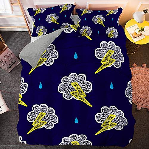 geek cook Bedding 4 piece bed sheet set,3D Cartoon Kids Bedding Set King Duvet Cover for Children Home Textiles fashion Bedclothes 2/3pcs-BS156_US Queen 228x228cm