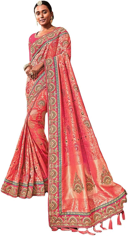 DesiButik's Party Wear Ravishing Pink Silk Saree