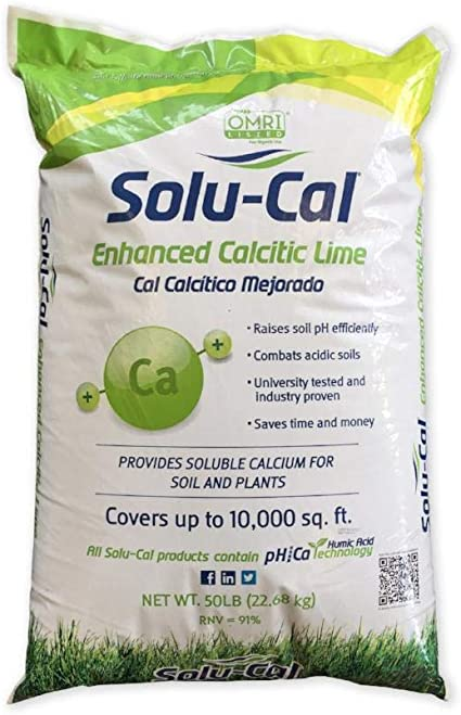 Solu-Cal Enhanced Calcitic Lime, 50 Lb. Covers up to 10,000 Sq. Ft.