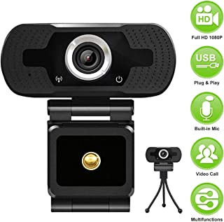 HD Webcam with Microphone, MSAFF Webcam 1080p with Tripod, Pro Streaming Computer Camera for Video Calling, Recording, Conferencing, Gaming