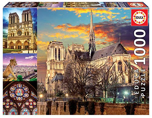 Educa - Collage Notre Dame Puzzle, 1000 Piezas, Multicolor (18456)