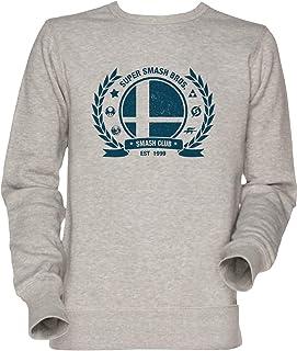 Smash Club Unisex Uomo Donna Felpa Maglione Grigio Men's Women's Jumper Sweatshirt Grey