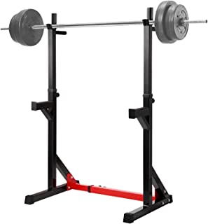 Ollieroo Multi-Function Barbell Rack Dip Stand Barbell Stand Weight Lifting Rack Gym Family Fitness Adjustable Squat Rack Weight Lifting Bench Press Dipping Station, Height Range 40.6
