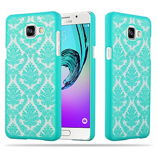 Cadorabo Samsung Galaxy A5 2016 Hardcase Hülle in GRÜN Blumen Paisley Henna Design Schutzhülle – Handyhülle Bumper Back Hülle Cover