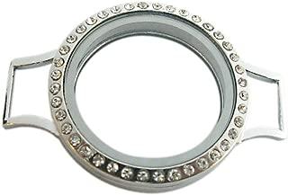 Watch Style Rhinestone Magnet Living Memory Floating Locket Pendant DIY Jewelry