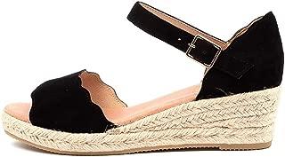 diana ferrari Raelene Black Suede Womens Shoes Ankle Strap Heels