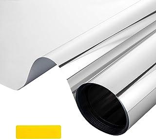 LEMESO - Película adhesiva para ventana, efecto de espejo, antirrayos UV, para privacidad, anticalor, para decoración y pr...