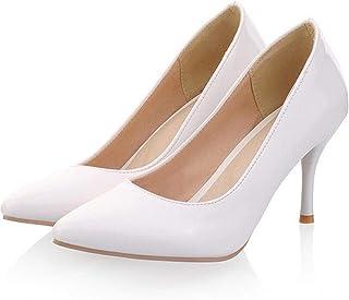 4709b10f530 Amazon.com: 6 Inch Sexy High Heel White Shoe Classic Pump Size: 14