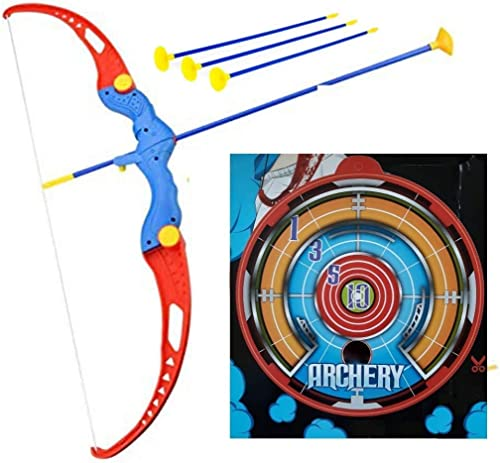 Cable World® Archery Toy Set with Target Outdoor Garden Fun Game Best for Kids - Assorted Color