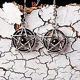 HAOSHA Punk Steamed Pentagram Bat Bat Boucles d'oreilles Femmes Bijoux Accessoires Boucles d'oreilles Cadeau, 5