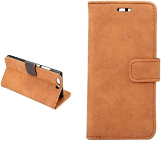 For Huawei P10 - Retro Style Leather Wallet Flip Case Stand - Brown