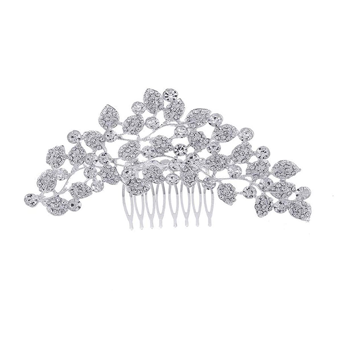 洞窟火曜日続編髪の櫛、櫛、ブライダル髪、櫛、髪の櫛、ラインストーンの櫛、葉の髪の櫛、結婚式の髪の櫛