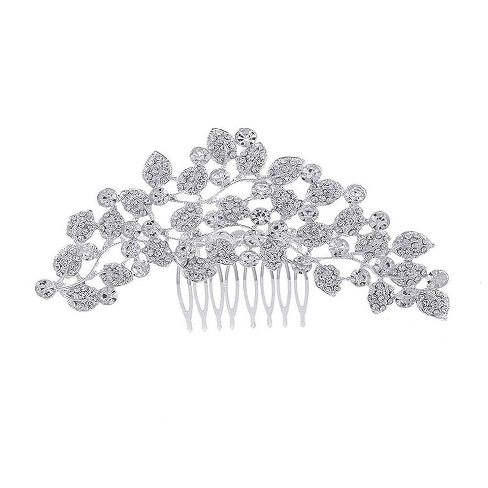 製品永久抽出髪の櫛、櫛、ブライダル髪、櫛、髪の櫛、ラインストーンの櫛、葉の髪の櫛、結婚式の髪の櫛