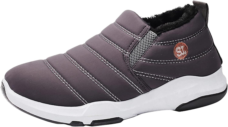 Binggong Botas de invierno para hombre, botas de invierno forradas con forro de peluche, botas de nieve clásicas, botas de senderismo, botas de algodón, botas cortas de invierno