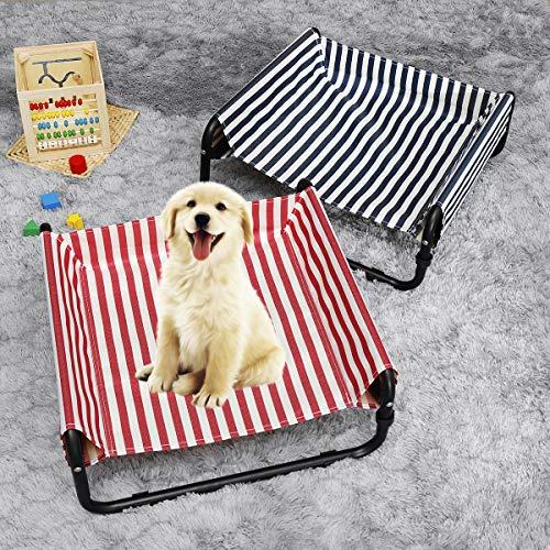 xingxing Pet Supplies - Cama elevada para perros y mascotas, plegable, portátil, impermeable, para acampar al aire libre (color: rojo)