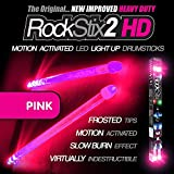 ROCKSTIX 2 HD HOT PINK BRIGHT LED LIGHT UP DRUMSTICKS with fade effect Set your gig on fire! [並行輸入品]