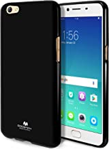 GOOSPERY Marlang Marlang Oppo R9S Case - Black, Free Screen Protector [Slim Fit] TPU Case [Flexible] Pearl Jelly [Protection] Bumper Cover for Oppo R9S, OPPOR9S-JEL/SP-BLK