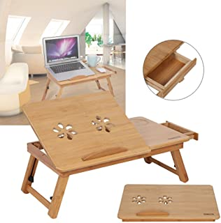 Dynamic24 - Mesa de ordenador portátil (bambú, con ventilador)