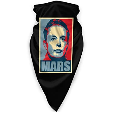 Elon Musk Mars Pop Art District Unisex Seamless Bandana Face Mask Neck Sun Protection Head Scarf Warmer Headwear Face Mask Cover