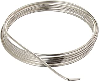 Beadsmith BWG15S 14 Gauge/1.5mm Silver Plated Copper German Bead Wire Craft Wire, 1.8m/5.9'
