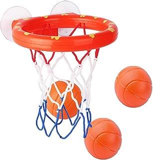 OBTANIM Bathtub Fun Basketball Hoop Balls Set Bathroom Shooting Game Toy for Toddler Kids Children Baby Bath Tub