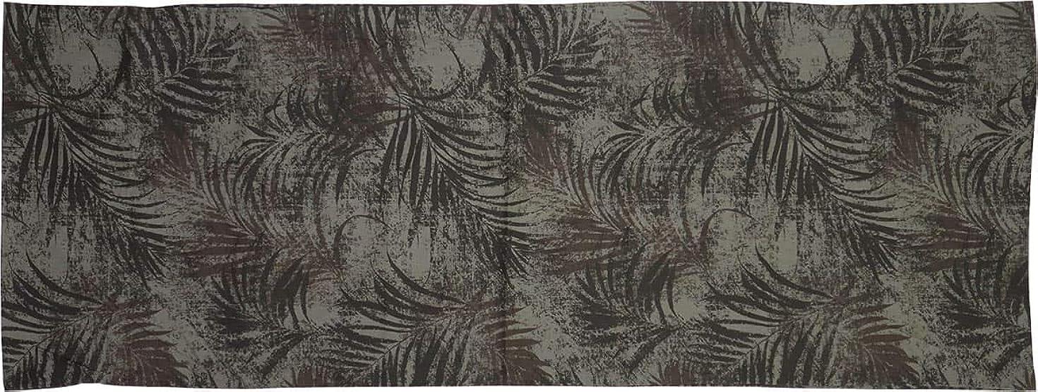 環境野球可愛い長ざぶとんカバー 約68×180cm 伸大判 バリ 綿100% ブラウン