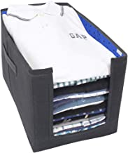 PrettyKrafts Shirt Stacker Closet Organizer - Shirts and Clothing Organizer - (Single) - Blue