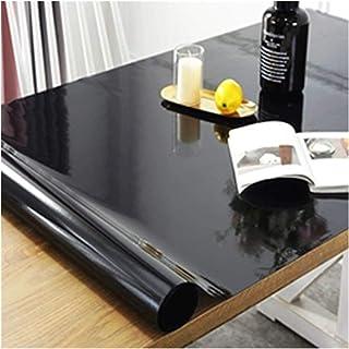 Nappe de table Nappe en PVC Noir Table à café doux en verre imperméable à l'imperméabilisation Tapis à l'huile Comptoir TV...