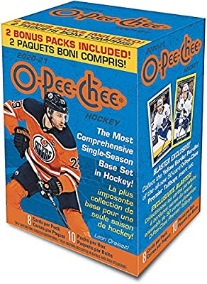 2020 2021 Upper Deck O Pee Chee Hockey Series Sealed Blaster Box of Packs with Chance for Short Printed Rookies and Stars plus Blaster EXCLUSIVE Yellow Bordered Tallboys