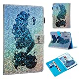 iPad mini 5 Case,iPad mini 4 Case, UZER Glitter Sparkle Bling Diamond Shining Style Premium PU Leather Shockproof Kickstand Wallet Case with Cash/Card Slots Book Case for iPad mini 5/ iPad mini 4 7.9'
