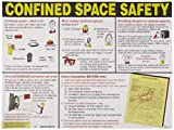 """Brady 50344 24"""" Height, 18"""" Width, Laminated Paper, Laminated Confined Space Poster, Legend""""Permit-Required"""