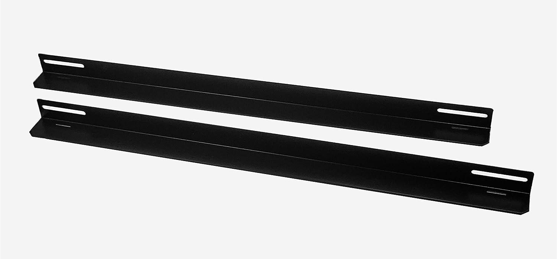 RAISING ELECTRONICS Rack Mount Supporting Rails L-Shape 1 Pair for 800mm Deep Cabinets/Racks 22