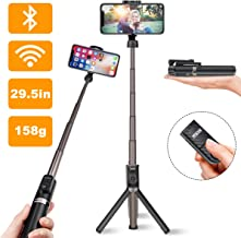 Selfie Stick Tripod, Detachable Wireless Remote, Portable All-in-1, Aluminum Alloy Rod, Non Skid Tripod Feet, Lightweight, Extends to 26