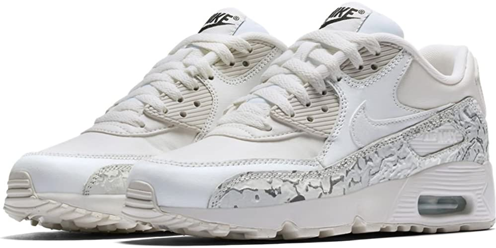 Nike - SCRAPE NIKE AIR MAX 90 LEATHER SE (GS) BIANCHE/ARGENTO A/I ...