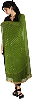 Indian Dupatta with Golden Dotted Print Chiffon Stole Scarf Chunni Hijab Gift for Woman
