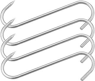10 Meat Hook Heavy Duty S-Hooks Stainless Steel Meat Processing Butcher Hook 4Pack