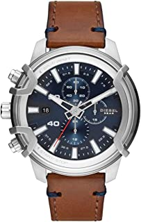Diesel Griffed Men's Blue Dial Leather Analog Watch - DZ4518