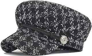 Fashion Wool hat Visor Military Octagonal hat Retro Patchwork Beret