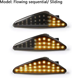 GemPro 2Pcs Dynamic Amber LED Side Marker Turn Signal Light For BMW E70 X5 E71 X6 F25 X3, Replace OEM Side Marker Light