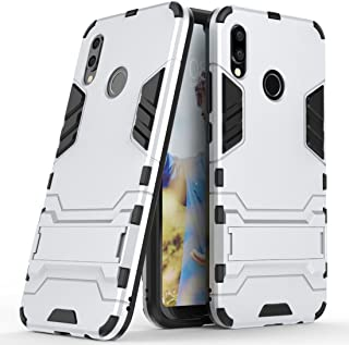 Case for Huawei P20 Lite/Nova 3E (5.84 inch) 2 in 1 Shockproof with Kickstand Feature Hybrid Dual Layer Armor Defender Protective Cover (Silver)