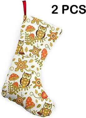 COJOP Owl Christmas Stockings Xmas Gift 10 Inch