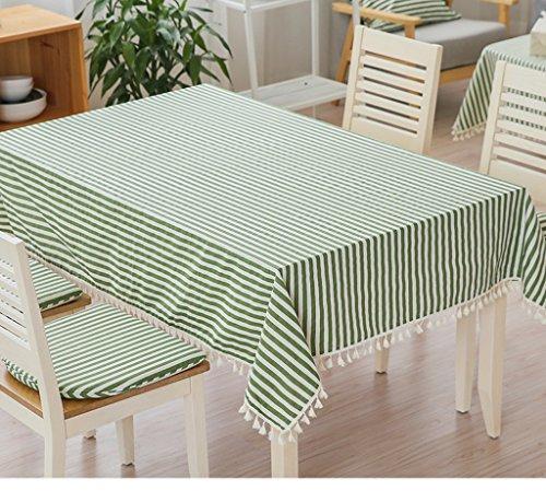 JCRNJSB® Tissu à rayures de style japonais en coton et lin Lavable et facile à entretenir ( Couleur : Vert , taille : 140*140cm )