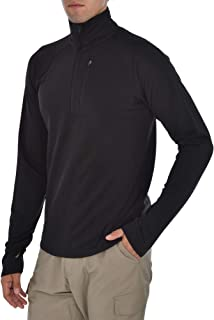 Mens Lightweight Grid Fleece 1/4 Zip Pullover Sweatshirt