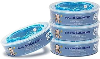 Signstek Diaper Pail Refills Compatible with Diaper Genie Pails,1080 Count,4-Pack