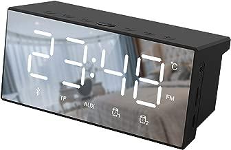 Pumouga Bluetooth Speaker Radio Alarm Clock Radio for Bedrooms, Digital Alarm Clock Dual Alarms, Alarm Clock Radio Large Display with Bluetooth Speaker