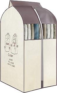 Mofeng Housse de rangement pour vêtements à suspendre avec fenêtres en PVC transparent - Protège contre la poussière - Bei...